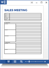 Sales Meeting Minutes Template